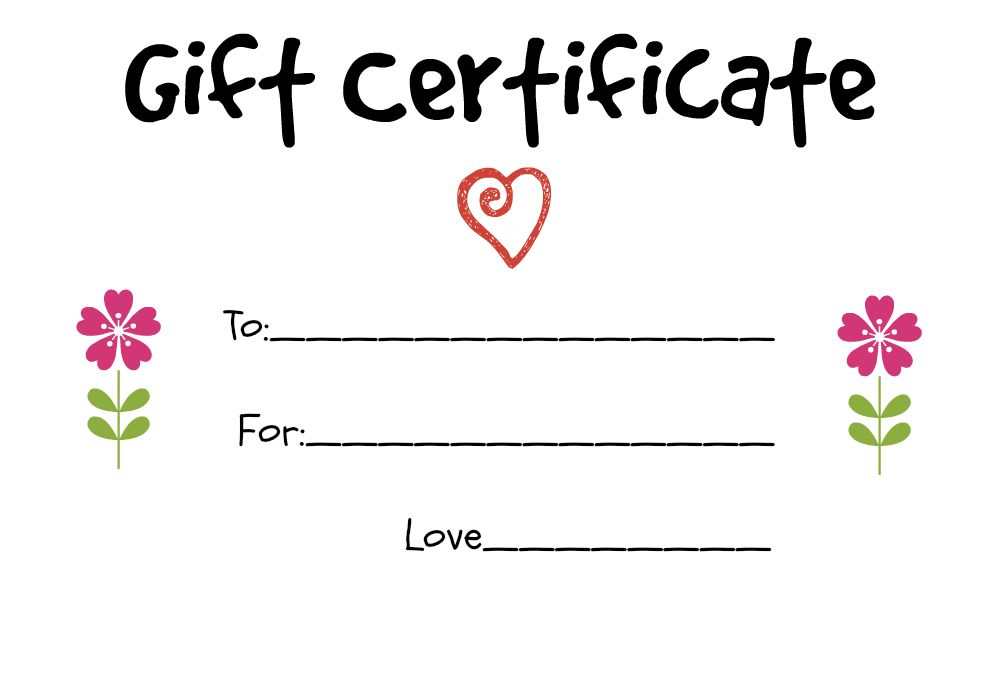Homemade Gift Certificate Ideas To Give To A Grandparent