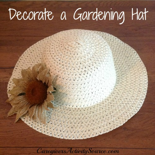 garden hat with flower